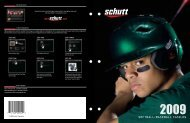 Softball/baSeball Catalog - Schutt Sports