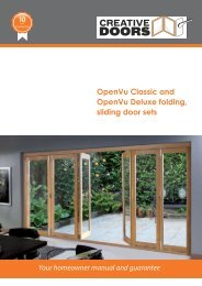 OpenVu Classic and OpenVu Deluxe folding ... - Creative Doors