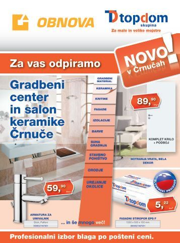 Gradbeni center in salon keramike Črnuče - OBNOVA