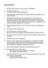 Regeln Calcetto 06