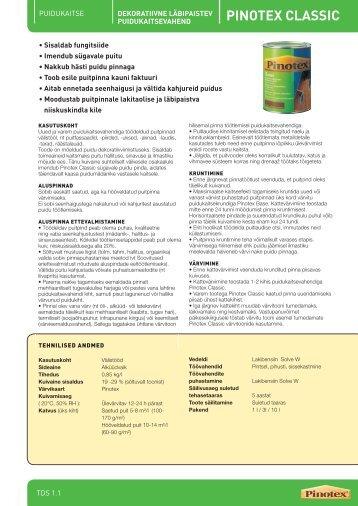 1.1 PINOTEX CLASSIC - ES Sadolin AS
