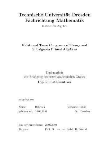 download pdf - Fachrichtung Mathematik - Technische Universität ...