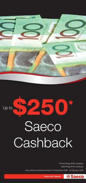 Saeco Cashback - Appliances Online