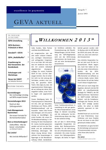 GEVA AKTUELL - GEVA Business Solutions GmbH