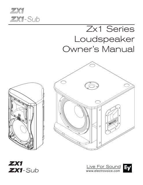 Zx1 Series Loudspeaker Owners Manual 1 9 Mb 17
