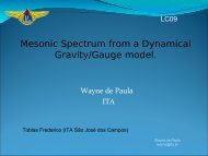 Mesonic Spectrum from a Dynamical Gravity/Gauge model.