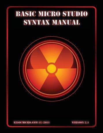 Basic Micro Studio Syntax Manual