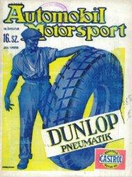 Automobil motorsport 1928 3. évfolyam 16. szám - EPA