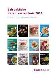 Saisonküche Rezeptverzeichnis 2012