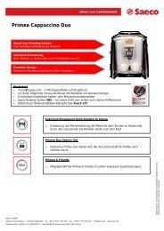 Primea Cappuccino Duo - Kaffee & Espressomaschinen Service