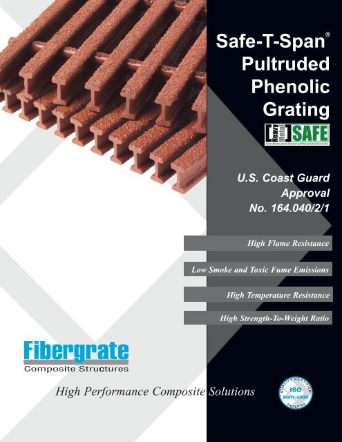 Safe-T-Span® Pultruded Phenolic Grating