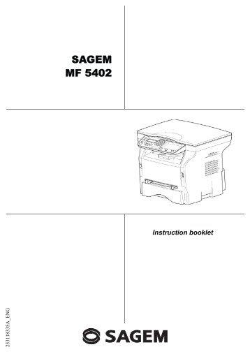 SAGEM MF 5402 - Support