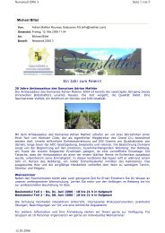 Newsletter 2006 3 - Mathier