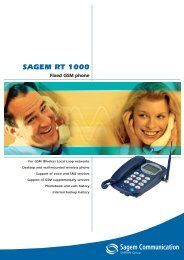 sagem rt 1000 - Mobil force