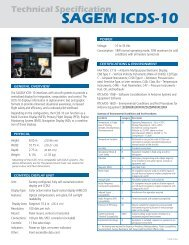 Technical Specification SAGEM ICDS-10 - Styles & Scribbles