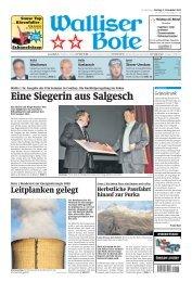 Walliser Bote: Eine Siegerin aus Salgesch - Mathier