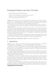 Orthogonal Surfaces and their CP-orders - Institut für Mathematik ...