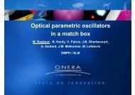 Optical parametric oscillators in a match box - Onera