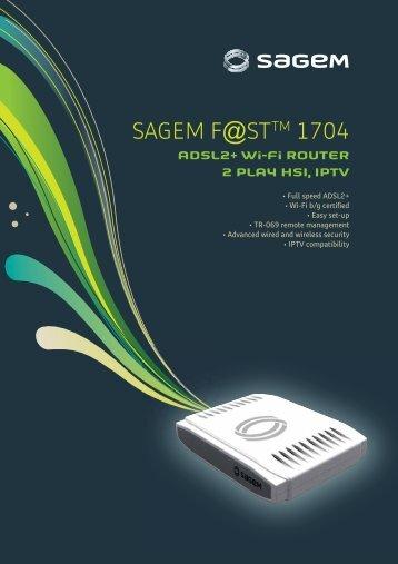 Sagemcom F st 1704 Firmware update Download
