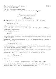 Funktionalanalysis I 2.¨Ubungsblatt - Institut für Mathematik - TU  Berlin