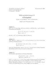 Differentialgleichungen II - Institut für Mathematik