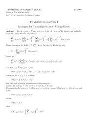 Funktionalanalysis I Lösungen der Hausaufgaben des 6 ...