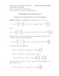 Differentialgleichungen I Lösungen der Hausaufgaben zum 8 ...