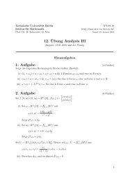 12. ¨Ubung Analysis III 1. Aufgabe 2. Aufgabe - Institut für ...