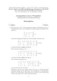 Lösungsskizzen zum 6. ¨Ubungsblatt - Institut für Mathematik ...