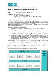 Grundkurs für Institutionen 2011/12 B - IFC