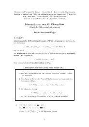 Lösungsskizzen zum 12. ¨Ubungsblatt - Institut für Mathematik - TU  ...