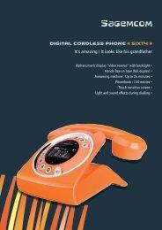 DIGITAL CORDLESS PHONE « SIXTY » - Sagemcom