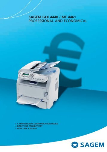 sagem fax 4440 / mf 4461 professional and economical - Sagemcom