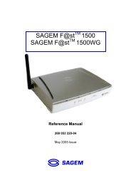 ST 800 TÉLÉCHARGER F ADSL MENARA XP SAGEM