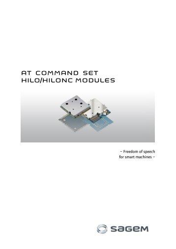 AT COMMAND SET HILO/HILONC MODULES - Libelium