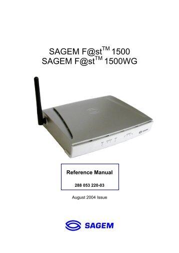 le driver du modem sagem fast 800-840