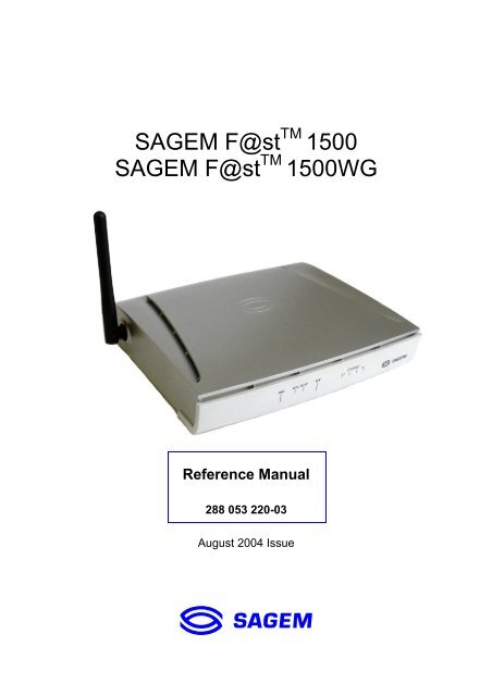 DRIVER SAGEM TÉLÉCHARGER 7 FAST 800 WINDOWS ADSL MODEM