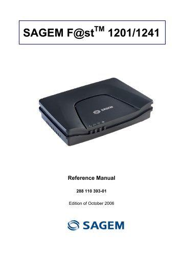 Sagemcom Fst 3686 User Manual