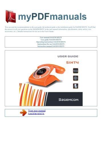 user manual sagem f st 908 my pdf manuals rh yumpu com sagemcom sixty user manual sagemcom sixty everywhere manual