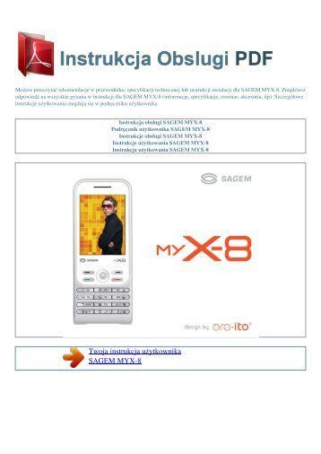 Instrukcja obsługi SAGEM MYX-8 - INSTRUKCJA OBSLUGI PDF