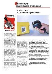 ICS-IT 1900 2D Hand-Imagescanner - ICS Identcode Systeme AG