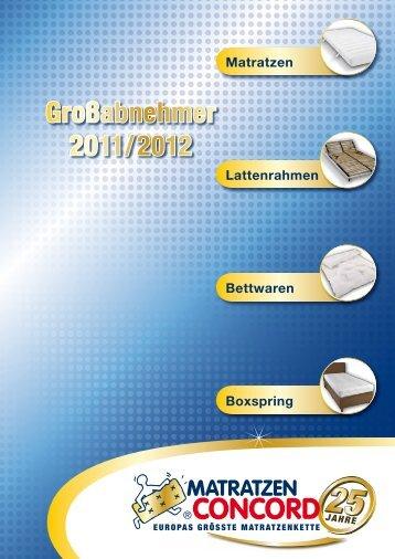 Großabnehmer 2011/2012 - Matratzen Concord GmbH