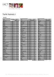 Tarife Festnetz I