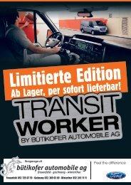Limitierte Edition - Bütikofer Automobile AG