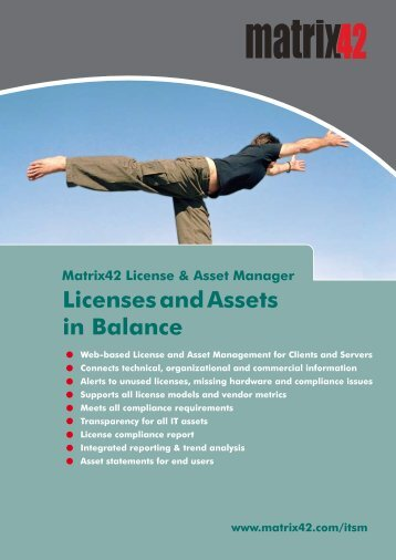 Licenses and Assets in Balance - Matrix42