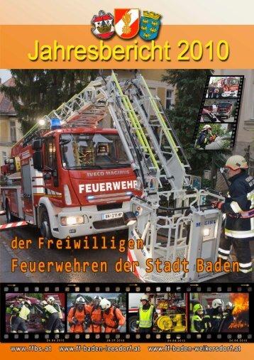 Jahresbericht 2010 (pdf) - Freiwillige Feuerwehr Baden-Stadt