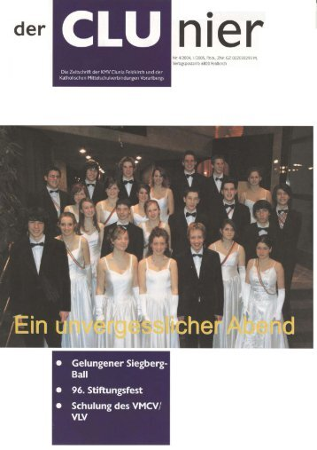 der CLUnier 1/2005 - KMV Clunia Feldkirch