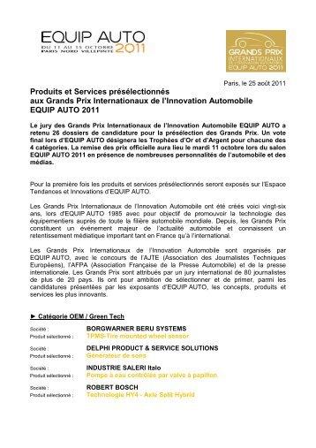 CP preselectionnes Grands Prix Equip Auto