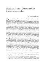 Danish Yearbook of Musicology 21 • 1993 / Dansk årbog ... - dym.dk