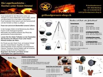 Pfannenknechte / Unterbau Grillroste fürs Lagerfeuer